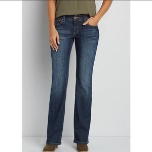 Maurices Taylor Medium Wash Bootcut Jean 6 Short